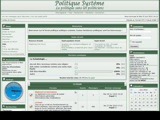 Politique systeme, forum politique sans les politiciens