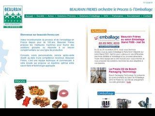 Beaurain Frères, machine d'emballage et produits de process
