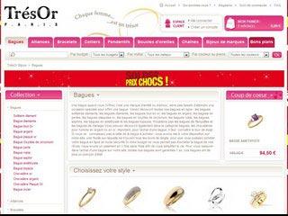 TrésOr Bijoux : Vos achat en ligne de Bijoux