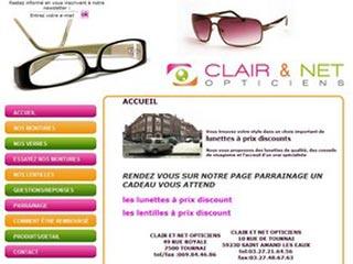 Clair & Net Opticiens : Lunettes de types différents