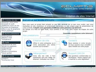 Eclyptis, création de sites Internet