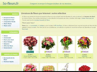 So-fleurs, livraison de fleurs à domicile