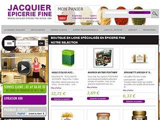 Epicerie en ligne de la maison Jacquier sur Paris