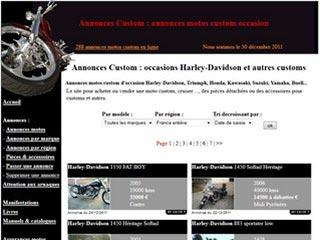 Annonces Custom : Motos custom occasion HArley-Davidson et autres marques