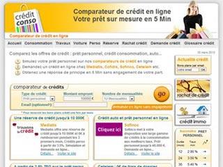 Crédit Conso, comparateur de crédit en ligne