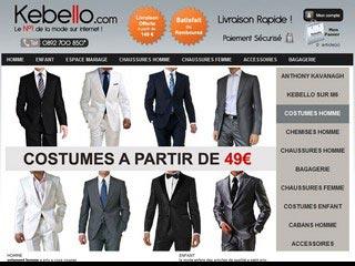 Kebello : Vetements, chemise et costume homme