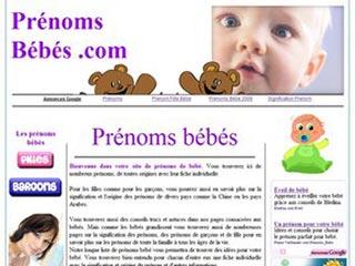 Prenoms bebes, listes de prénoms de garçons et de filles