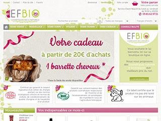 EFBIO : Cosmétiques bio et naturels à petits prix