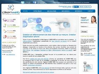 Cliken Web, création et referencement de site internet