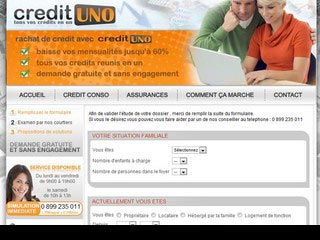 CreditUNO, comparateur de rachat credits gratuit