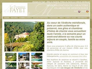 Domaine du Fayet, pour réserver un séjour en gite rural