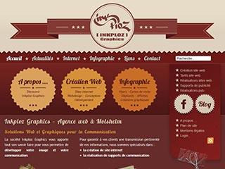 Inkploz Graphics, création de site internet et supports communication