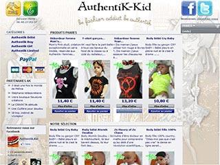 Authentik-kid : Top pour enfant et body pour bébé