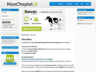 MonCheptel, logiciel de gestion de troupeau de bovin