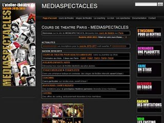 Mediaspectacles, cours de thêatre à Paris