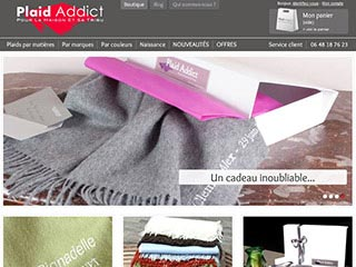 Plaid Addict, la boutique en ligne du plaid