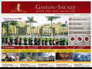 Gaston Sacaze, découverte de l'Amérique du Sud