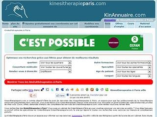 Kinesitherapie Paris, annuaire de kinés a Paris