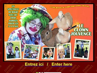 Le Clown Jouvence enchantera vos petits enfants à votre domicile