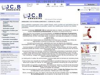 Annuaire JCB, le spécialiste en fichiers professionnels