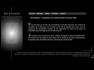 Bat kalaayan, compositeur musique de film et jeux vidéo