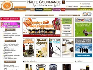 Halte Gourmande, épicerie fine et paniers gourmands