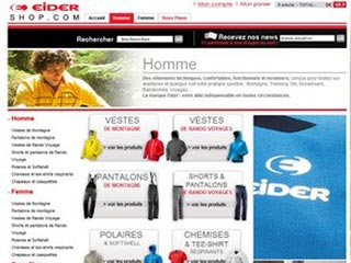 Eidershop, le shop officiel de la marque Eider