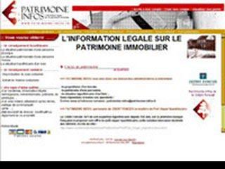 Patrimoine Infos, l'information legale sur le patrimoine immobilier