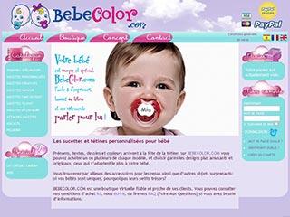 Bebe Color, tétines et sucettes personnalisées en Rhône alpes