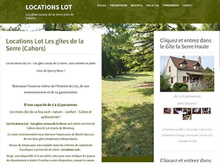 Locations Lot, les gîtes de La Serre près de Cahors
