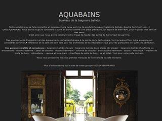 Aquabains, baignoire balneo d'angle sur Paris