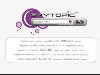 Skytopic, moteur de recherche des forums