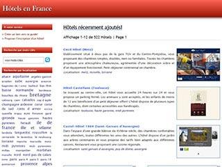 Annuaire des hôtels indépendants dans les régions de France
