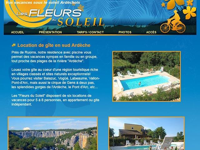Passez vos vacances dans le sud ardéchois avec lesfleursdusoleil.fr