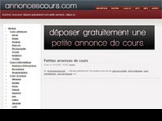Annonce cours
