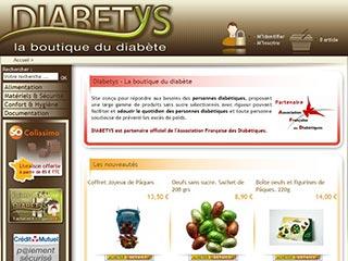 Diabetys, boutique de produits pour diabétiques