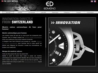 Edmond Watches : Montre suisse automatique pour homme
