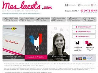 Meslacets, la vente de lacets en ligne