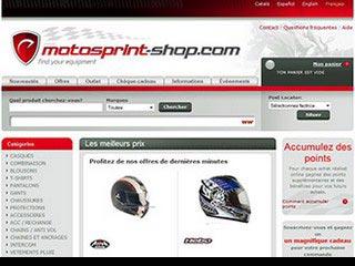 Motosprint-shop : Vente accessoires de moto