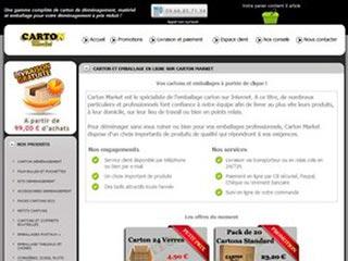 Carton market : Vente d'emballages en carton