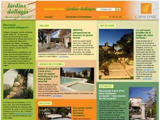 Jardins et Dallages : Dallages, dalles, pavés vieillis