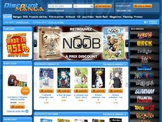 Discount Manga, spécialiste du manga sur internet
