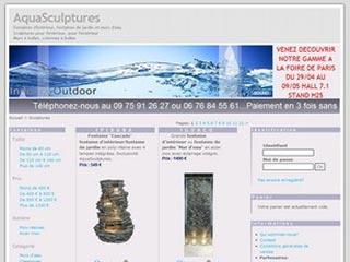 Aqua Sculptures : Fontaines d'intérieur et de jardin