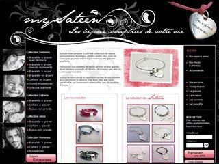 mySateen : boutique de bijoux personnalisés