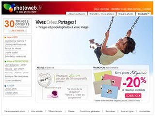 Photoweb, developpement et tirage photo
