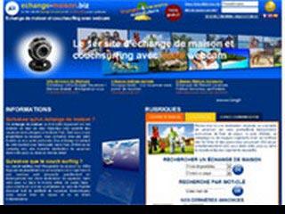Echange de maison et couchsurfing avec webcam