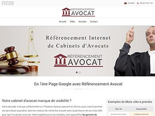Referencement site web avocat