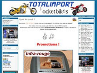 Totalimport - Mini Motos - Pocket Bikes - Multimédia embarqué  -
