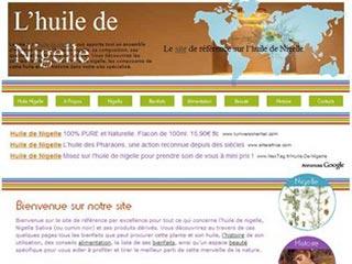 Le site de référence sur l'huile de Nigelle