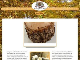 Michel Gallou, tourneur sur bois en Eure et loir, 28